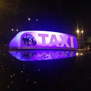 Look for the PURPLE Taxi Roof-Light