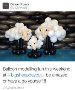 Devon Pixels Re-Tweet of Big Sheep Tweet