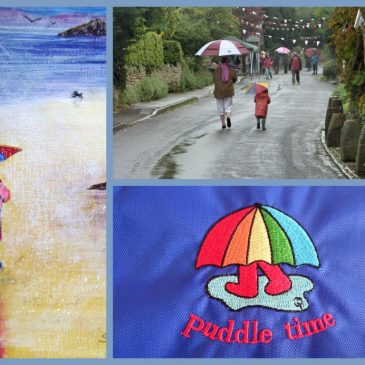 Puddle Time – the creator of the footmuff anorak