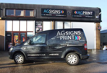 AG Signs, designers, signmakers & fitters based in Honiton