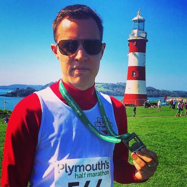 Completed the Plymouth Half Marathon in 1hr 57mins 28secs.