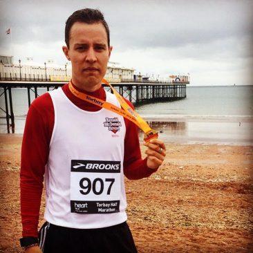 Completed the Torbay Half Marathon in 1hr 41mins & 45 secs.