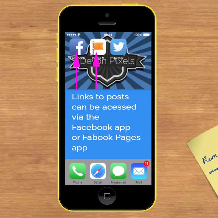 Share Facebook posts on Twitter on an iPhone