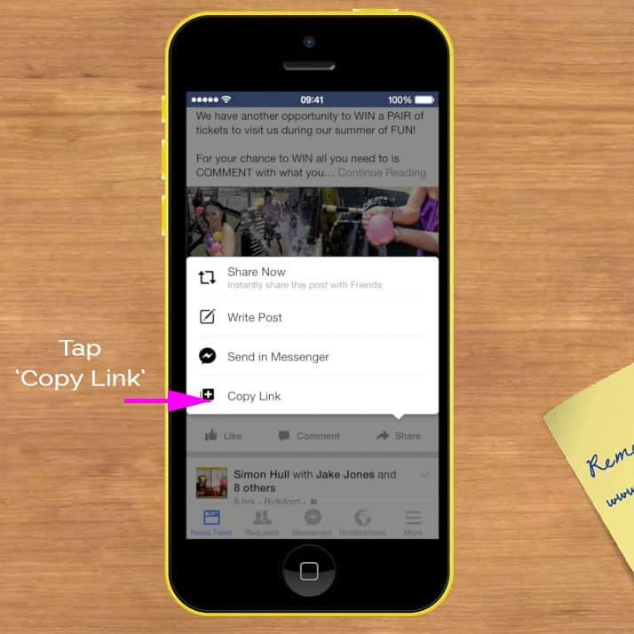 Click Copy Link