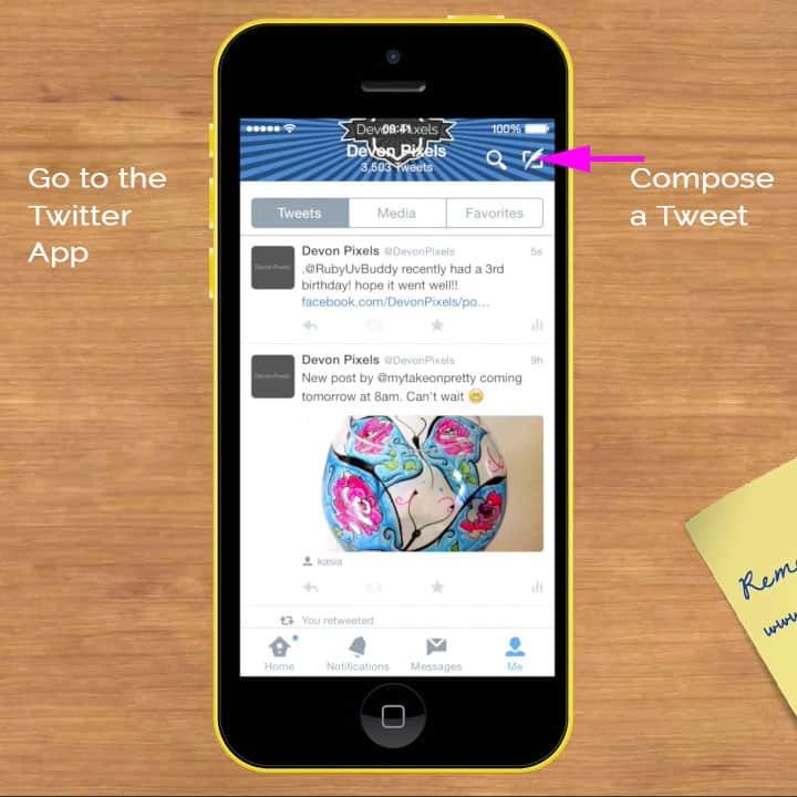 Open your Twitter app
