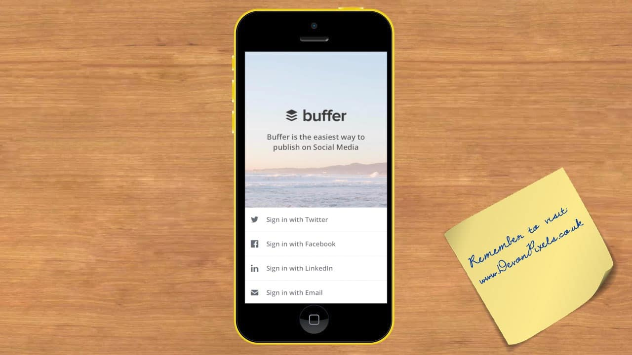login to buffer