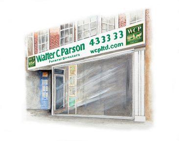 Walter C Parson exeter office illustration
