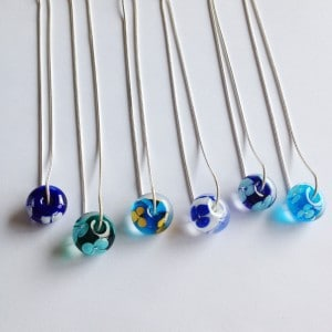 Glass flower bead necklaces RB Designs