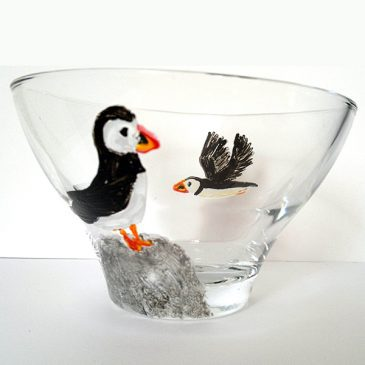 puffin bowl perched