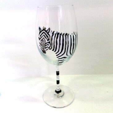 zebra glass fine stem