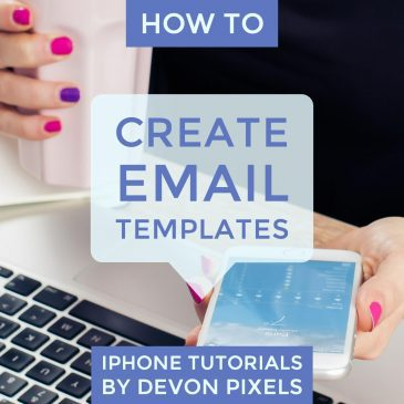 How to Create Email Templates on an iPhone - iPhone Tutorial