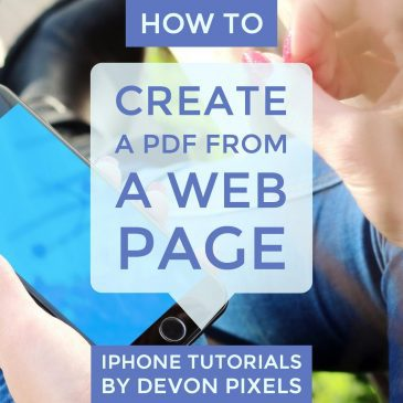 How to Create a PDF from a Web Page on an iPhone