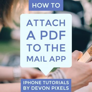 How to attach PDF to the mail app - iPhone Tips and Tricks