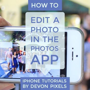 How to Edit a Photo on iPhone's Photo App