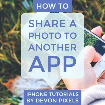 How to Share a Photo to another App on iPhone