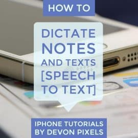 How to dictate notes and texts on iPhone