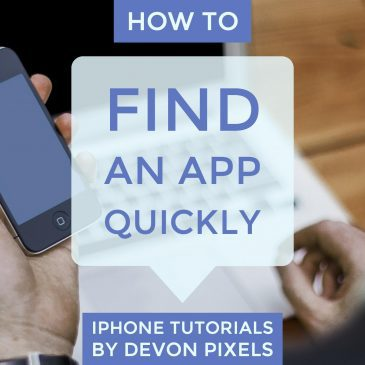 how to find an app quickly on the iphone